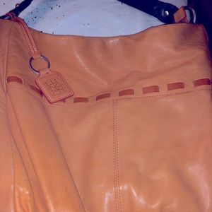 Vintage Ellington Orange Leather bad made in USA